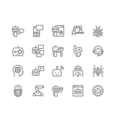 Line bot icons vector