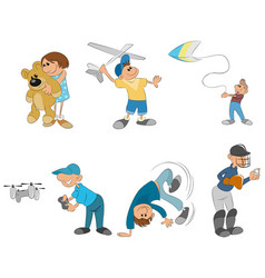 six kids playing vector image