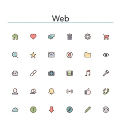 Web Colored Line Icons vector image vector image