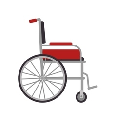 wheelchair medical equipment vector image