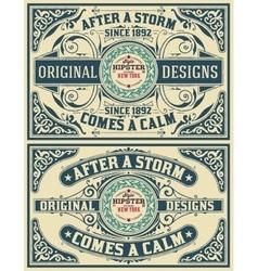 Baroque cards set vector image