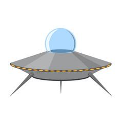 cartoon ufo isolated on white background vector image