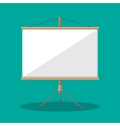 Empty Projection screen Presentation board vector image