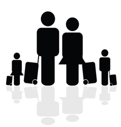 family travel icon vector image vector image