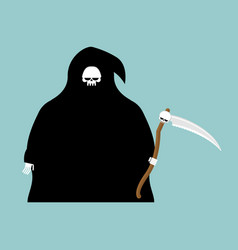 fat grim reaper with scythe isolated death in vector image vector image