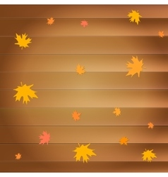 Happy thanksgiving day greeting card with falling vector image