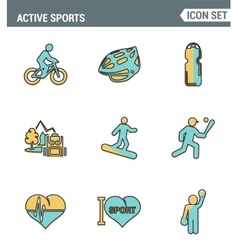 Icons line set premium quality of active sports vector image vector image