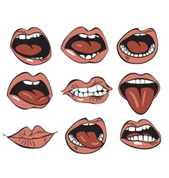 Nine mouths vector image