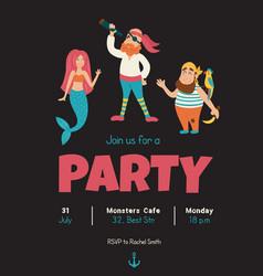 pirates invitation vector image