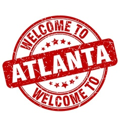 welcome to Atlanta vector image vector image