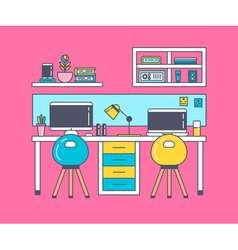 Working Place Pink vector image
