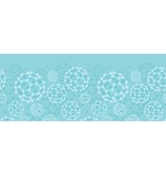 Buckyballs horizontal seamless pattern background vector image vector image