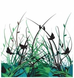 floral vine garden vector image vector image