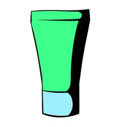 green cosmetic tube icon icon cartoon vector image