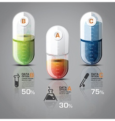Healthcare And Medical Infographic Pill Capsule vector image vector image