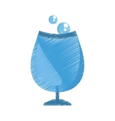 party wine with bubbles icon image vector image