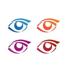 Eye logo conception vector image vector image