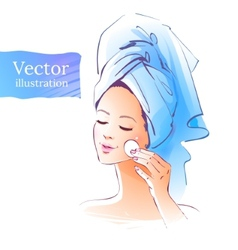 Girl Skin care vector image vector image