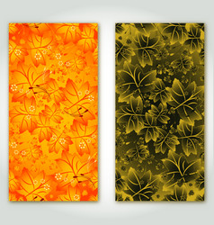 two banners with maple leaves vector image