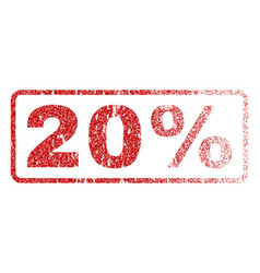 20 percent rubber stamp vector image