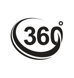 360 degree black version icon vector