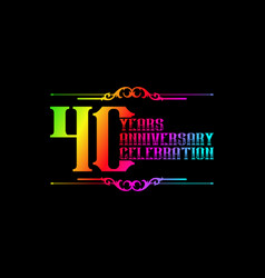 40th years anniversary logo template vector