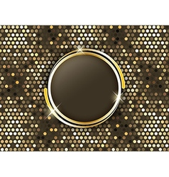 Abstract mosaic background with gold rings in the vector image