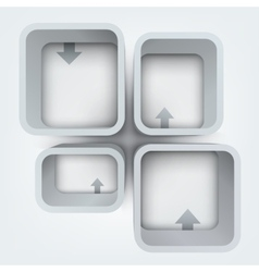 Abstract of 3d frames vector