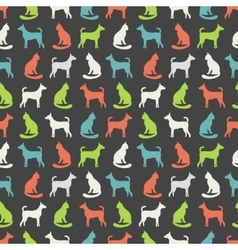 Animal seamless pattern cat and dog vector