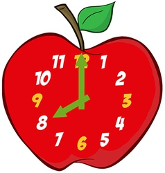Apple Clock vector image