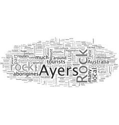 Ayers rock mystery in desert vector