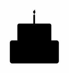 birthday cake silhouette vector image
