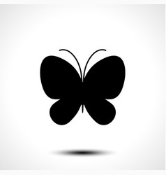 butterfly icon butterfly silhouette vector image