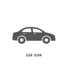 car icon simple flat style vector image