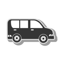 Cargo van vehicle icon vector