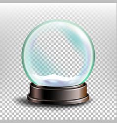 christmas snowglobe glossy dome magic vector image