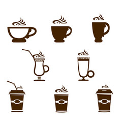 Coffee mug icons vector
