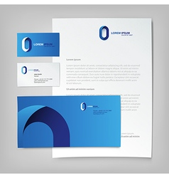 Corporate ID template Abstract logo on letter vector image