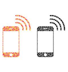 Dot smartphone call mosaic icons vector