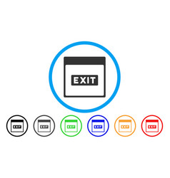 exit caption calendar page rounded icon vector image
