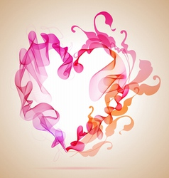 Floral Abstratct Heart vector image