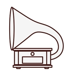 Gramophone music icon image vector