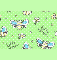 Hand drawn butterflies seamless pattern vector