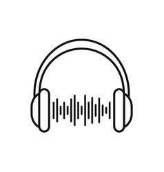 headphones on white vector image