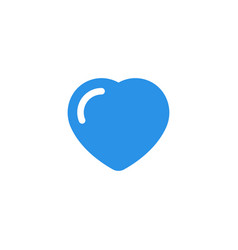 heart icon blue monochrome color vector image