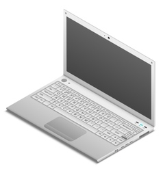 Isometric laptop isolated on white vector image