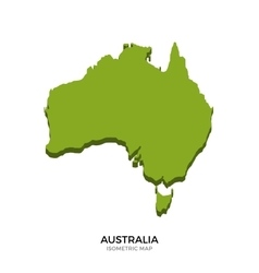 Isometric map of Australia detailed vector image