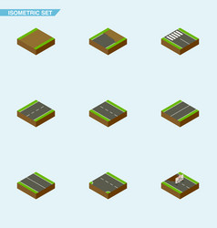 Isometric way set of repairs unfinished single vector