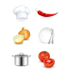 Kitchen icon set vector image vector image