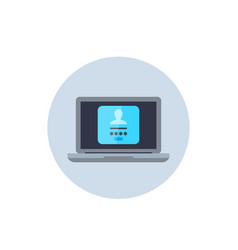 Login form authentication icon vector